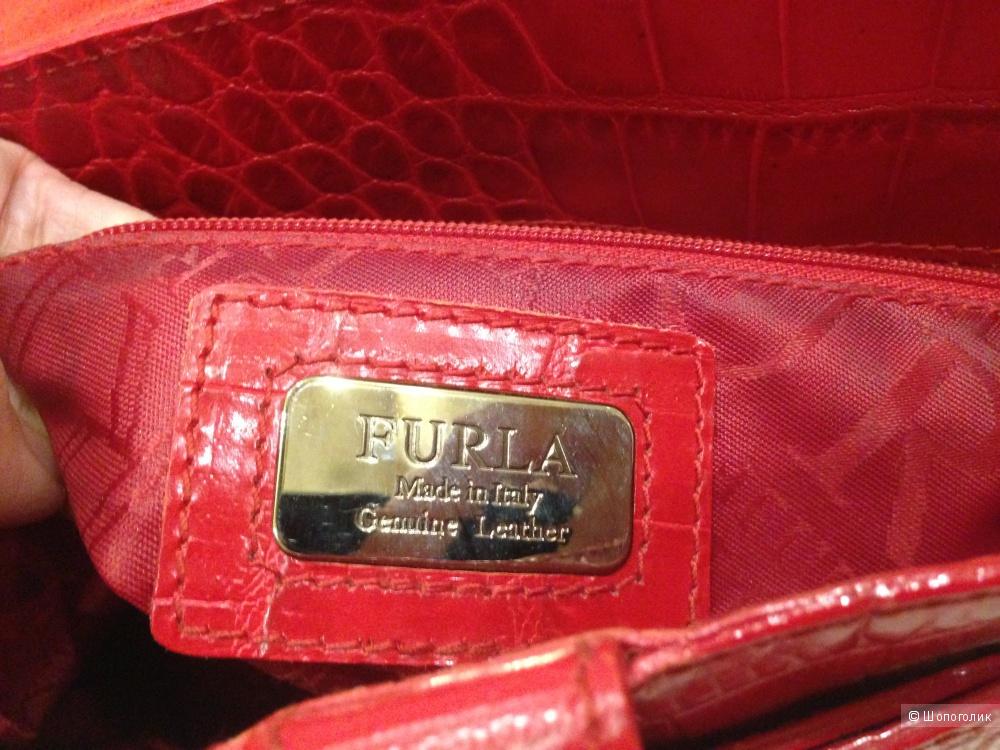 Женская красная сумка metropolis с принтом FURLA купить
