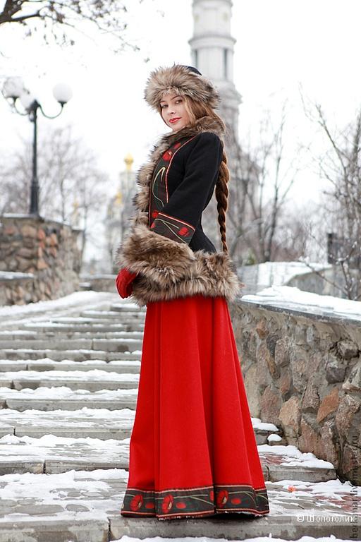 фото русской в юбке