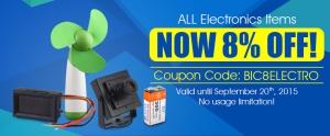 Скидка 8% на электро товары в BuyIncoins