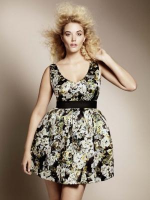 Умное вечернее платье полного размера