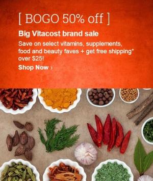 BOGO в Vitacost + бесплатная доставка