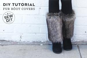 Меховые гетры - Fur Boot Covers