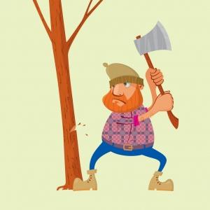 Рубить посты в нашем  лесу  запрещено!