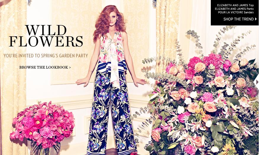 Дикие цветы модные принты от shopbop com