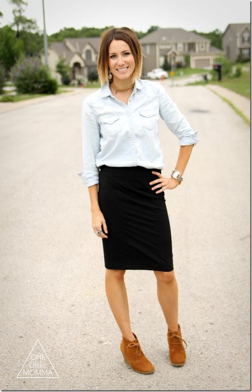Образ юбка карандаш и рубашка