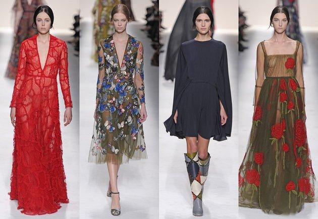 Если в весенней линии couture от Valentino тематикой нарядов стала итальянская опера, то коллекцию осень-зима 2014/2015