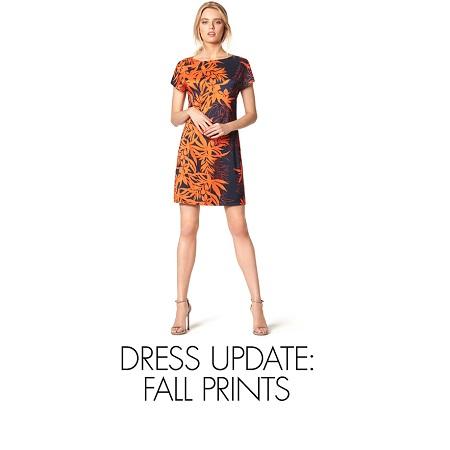 Пре-осенние принты платьев на Amazon