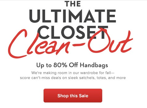 Распродажа сумок в Gilt - скидки до 80%