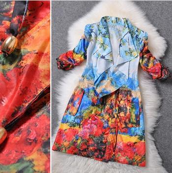 Винтажное пальто в европейском стиле на AliExpress