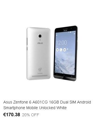 Смартфон Asus Zenfone на eBay