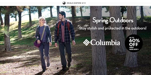 6pm: Все от Columbia для весенней прогулки