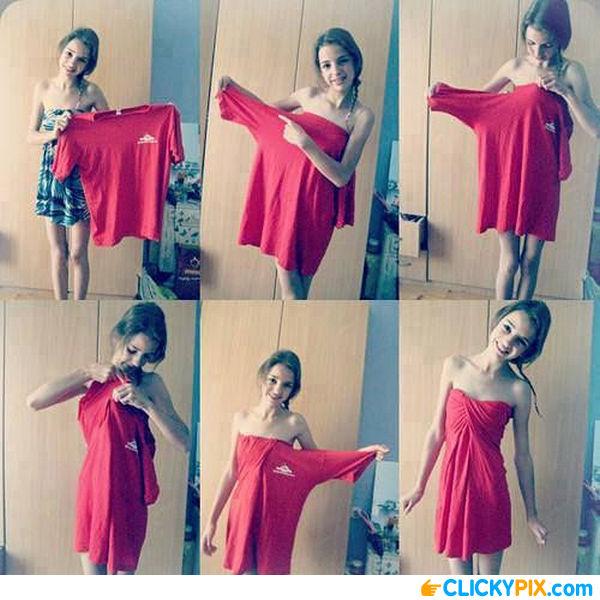 Как из футболки сделать платье фото 613