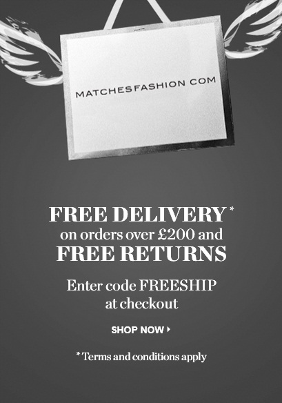 Бесплатная доставка из Matchesfashion