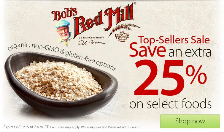 Распродажа продуктов Bobs Red Mill в Vitacost