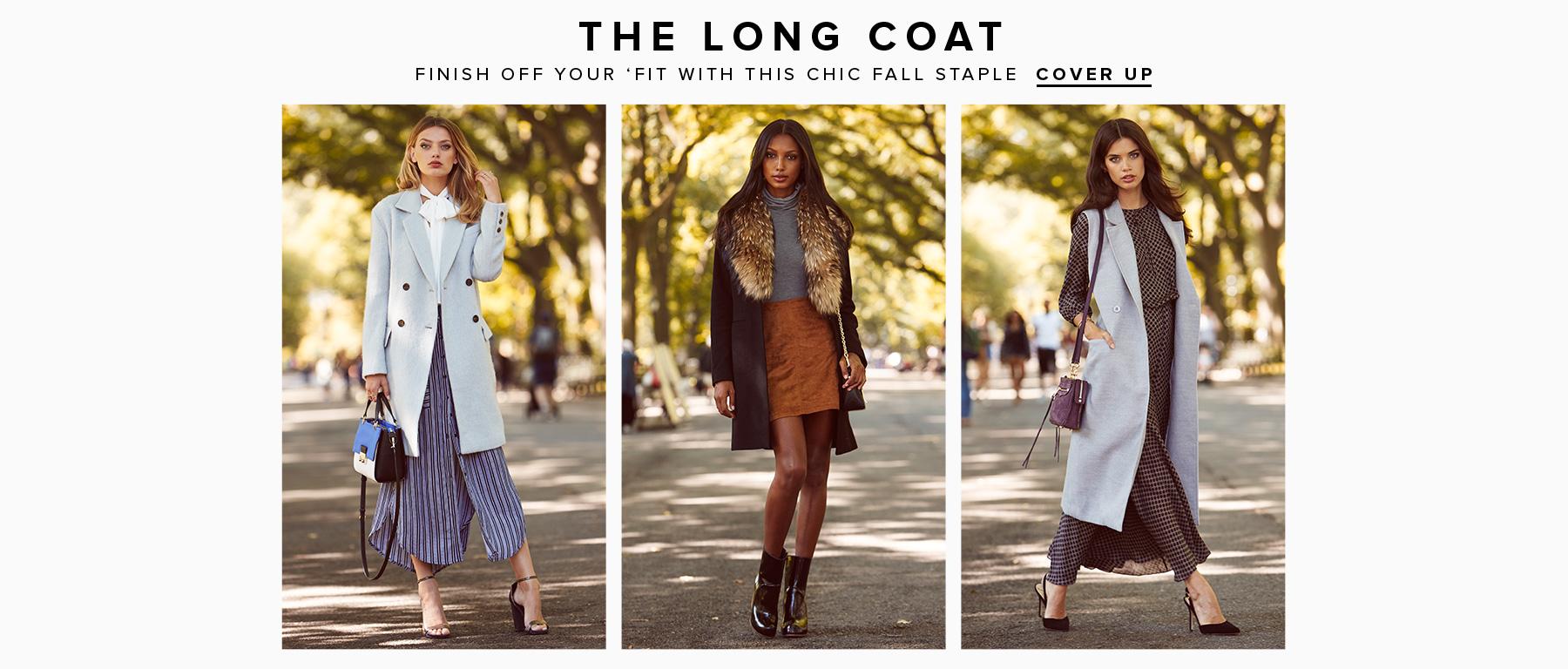 Длинные пальто в REVOLVE