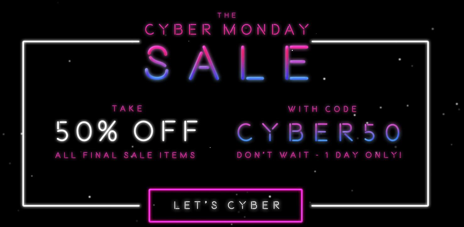 Кибер понедельник в REVOLVE